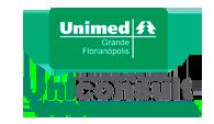 Logo Unimed Grande Florianópolis e Logo Uniconsult Administradora